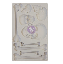 Prima Finnabair Decor Moulds 5X8 - Skull and Bones