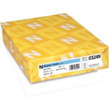 Neenah 80lb Classic Crest Cardstock 8.5X11 250/Pkg - Solar White