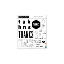 Concord & 9th Clear Stamps 6X6 - All The Thanks