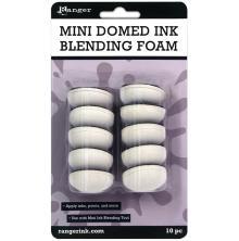 Tim Holtz Mini Ink Blending Foams 1inch Round 10/Pkg - Domed