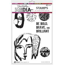 Dina Wakley Media Cling Stamps 6X9 - Be Bold