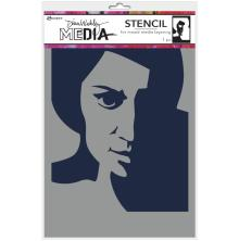 Dina Wakley Media Stencils 9X6 - Pensive Face