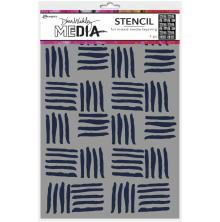 Dina Wakley Media Stencils 9X6 - Cross Hatch