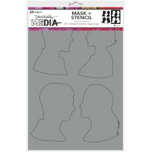 Dina Wakley Media Stencils + Masks 6X9 - Profiles