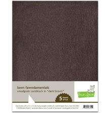 Lawn Fawn Woodgrain Cardstock - Dark Brown