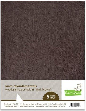 Lawn Fawn Woodgrain Cardstock - Dark Brown