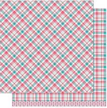 Lawn Fawn Perfectly Plaid Paper 12X12 - Lynette Remix