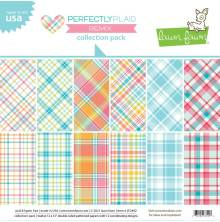 Lawn Fawn Collection Pack 12X12 - Perfectly Plaid Remix