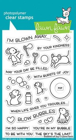 Lawn Fawn Clear Stamps 4X6 - Bubbles Of Joy