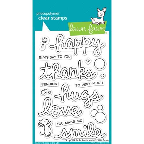 Lawn Fawn Clear Stamps 4X6 - Scripty Bubble Sentiments