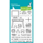 Lawn Fawn Clear Stamps 4X6 - Virtual Friends