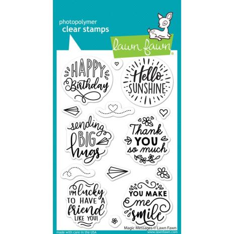 Lawn Fawn Clear Stamps 4X6 - Magic Messages