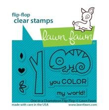 Lawn Fawn Clear Stamps 3X2 - One In A Chameleon Flip-Flop