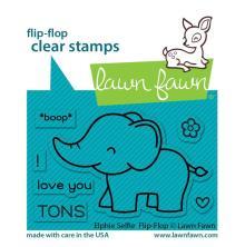 Lawn Fawn Clear Stamps 3X2 - Elphie Selfie Flip-Flop