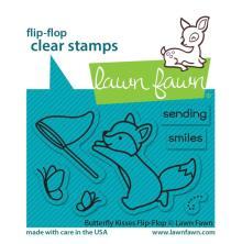 Lawn Fawn Clear Stamps 3X2 - Butterfly Kisses Flip-Flop