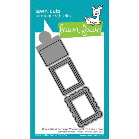 Lawn Fawn Dies - Reveal Wheel: Rectangle Window Add-On