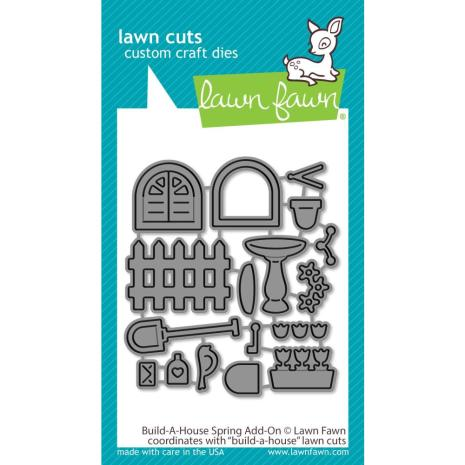 Lawn Fawn Dies - Build-A-House Spring Add-On
