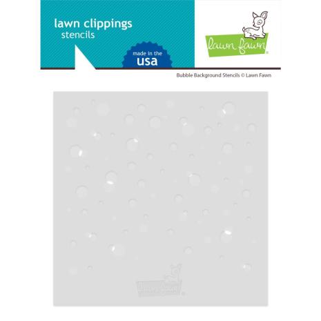 Lawn Fawn Stencils - Bubble Background