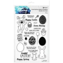 Simon Hurley create. Clear Stamps 6X9 - Hoppy Easter!