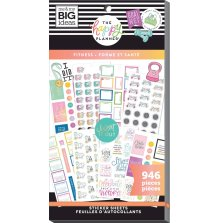 Me & My Big Ideas Happy Planner Sticker Value Pack - Fitness 946