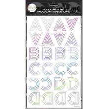 Me & My Big Ideas Happy Planner Alphabet Icon Stickers - Art Deco Rainbow