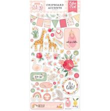 Echo Park Welcome Baby Girl Chipboard 6X13 - Accents
