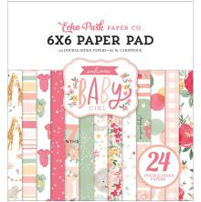 Echo Park Double-Sided Paper Pad 6X6 - Welcome Baby Girl