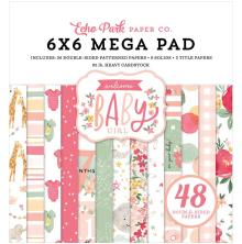 Echo Park Double-Sided Mega Paper Pad 6X6 - Welcome Baby Girl