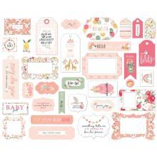 Echo Park Welcome Baby Girl Cardstock Die-Cuts 33/Pkg - Frames & Tags