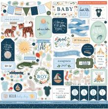Echo Park Welcome Baby Boy Cardstock Stickers - Elements