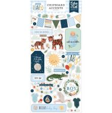 Echo Park Welcome Baby Boy Chipboard 6X13 - Accents