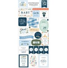 Echo Park Welcome Baby Boy Chipboard 6X13 - Phrases