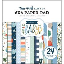 Echo Park Double-Sided Paper Pad 6X6 - Welcome Baby Boy