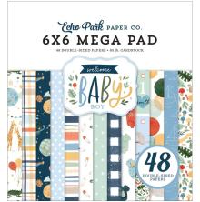 Echo Park Double-Sided Mega Paper Pad 6X6 - Welcome Baby Boy