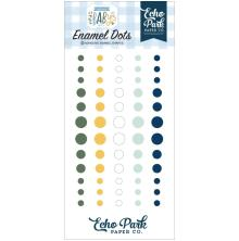 Echo Park Adhesive Enamel Dots 60/Pkg - Welcome Baby Boy