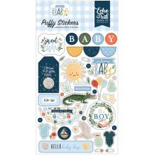 Echo Park Puffy Stickers - Welcome Baby Boy