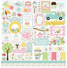 Echo Park Welcome Spring Cardstock Stickers - Elements