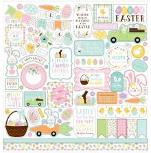 Echo Park Welcome Easter Cardstock Stickers - Elements