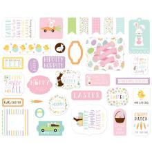 Echo Park Welcome Easter Cardstock Die-Cuts 33/Pkg - Ephemera