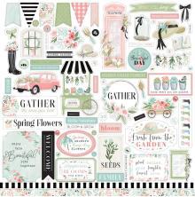 Carta Bella Flower Garden Cardstock Stickers - Elements