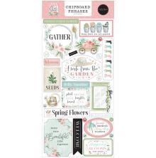 Carta Bella Flower Garden Chipboard 6X13 - Phrases