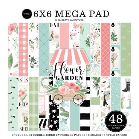 Carta Bella Double-Sided Mega Paper Pad 6X6 - Flower Garden