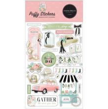 Carta Bella Puffy Stickers - Flower Garden