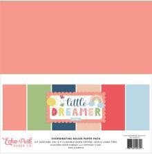 Echo Park Solid Cardstock 12X12 6/Pkg - Little Dreamer Girl