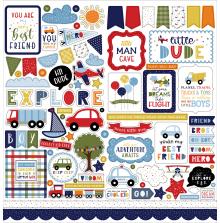 Echo Park Little Dreamer Boy Cardstock Stickers - Elements