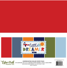 Echo Park Solid Cardstock 12X12 6/Pkg - Little Dreamer Boy