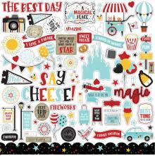 Echo Park A Magical Place Cardstock Stickers - Elements