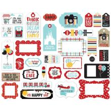 Echo Park A Magical Place Cardstock Die-Cuts 33/Pkg - Frames & Tags