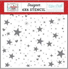 Echo Park A Magical Place Stencil 6X6 - Hearts & Stars