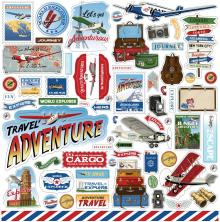 Carta Bella Our Travel Adventure Cardstock Stickers - Elements